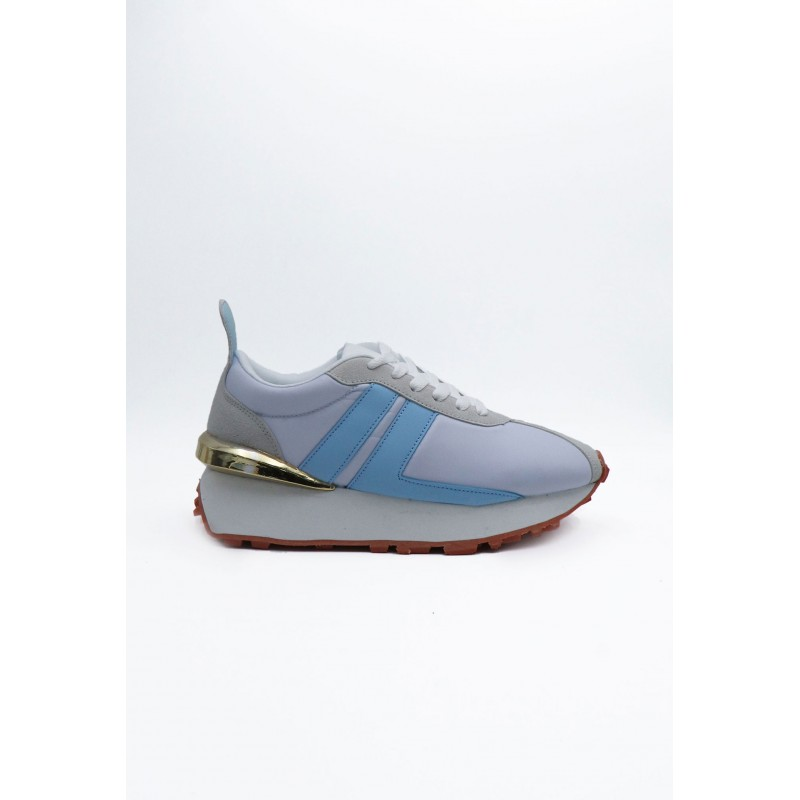 Sneakers Gold Light Blue