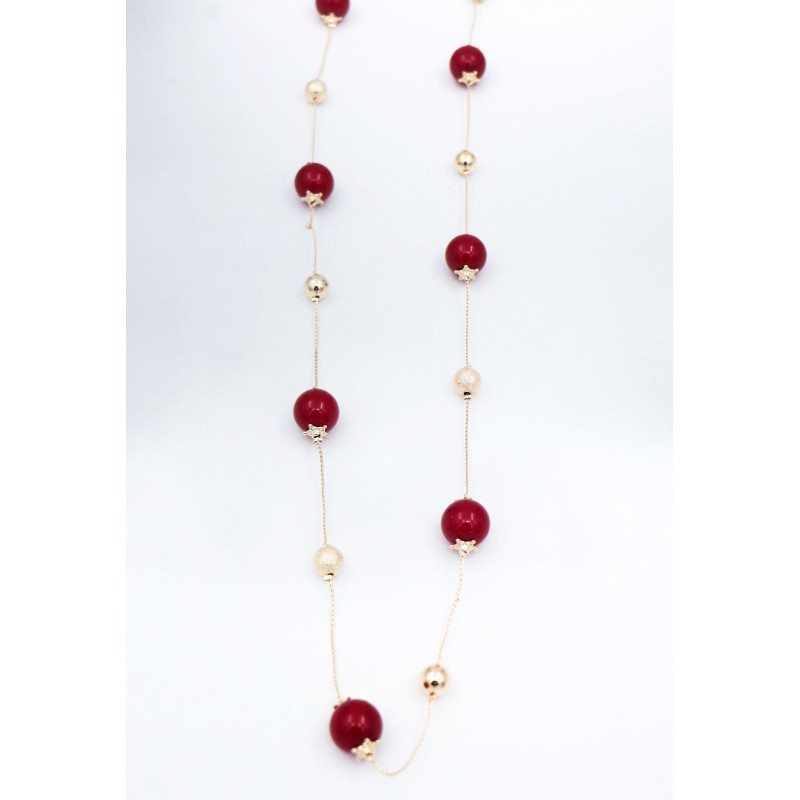 Collana Leather Red